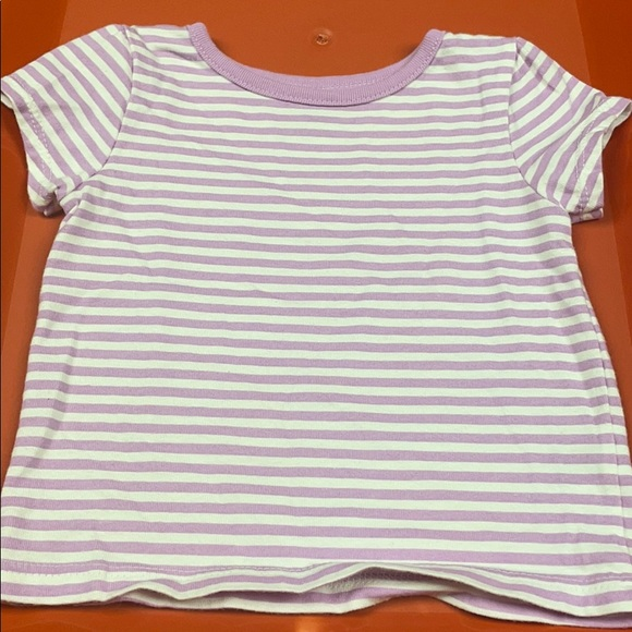 Purple and white striped baby T-Shirt
